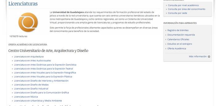UDG Carreras