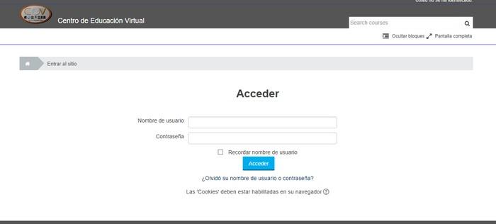 acceso al CEV