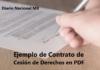 Ejemplo de Contrato de Cesión de Derechos en PDF