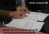 Modelo de contrato de prestación de servicios de profesionales en PDF